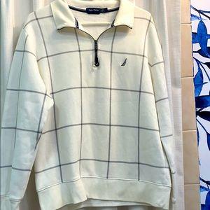 NWOT Men's Nautica 3/4 Zip Fleece Lined Pullover M